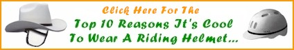 Top 10 Reasons It's Cool To Wear A Riding Helmet